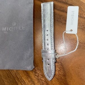 Silver 18mm Michele Watch Straps